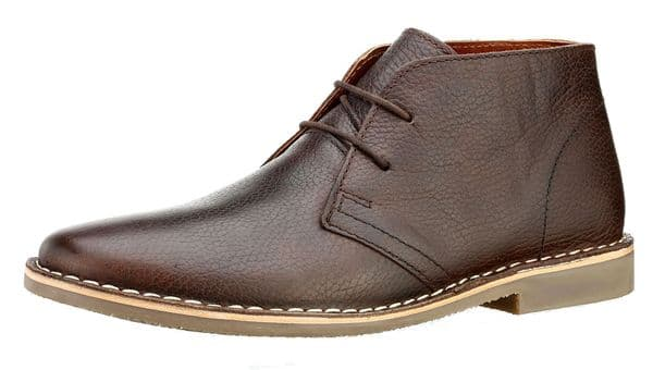 Red Tape Gobi Milled Leather Brown Desert Boots